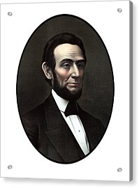 President Abraham Lincoln  Acrylic Print by War Is Hell Store