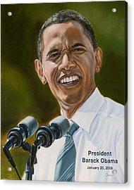 President Barack Obama Acrylic Print by Christopher Oakley