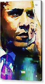 President Barack Obama Acrylic Print by Lynda Payton