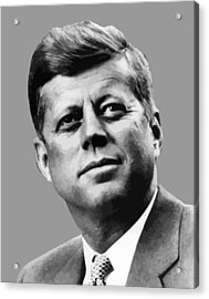 President Kennedy Acrylic Print by War Is Hell Store