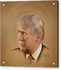 President Trump Acrylic Print by Joel Payne