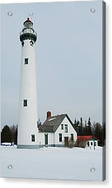 Presque Isle Lighthouse Acrylic Print by Michael Peychich