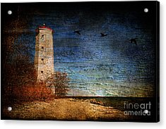 Presquile Lighthouse Acrylic Print by Lois Bryan