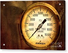 Pressure Gauge Acrylic Print by Charuhas Images