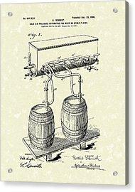 Pressure System 1900 Patent Art  Acrylic Print by Prior Art Design