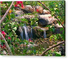 Pretty Garden View Acrylic Print by Yali Shi