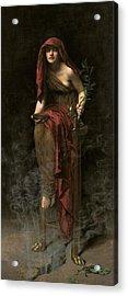 Priestess Of Delphi Acrylic Print by John Collier