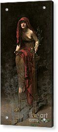 Priestess Of Delphi Acrylic Print by John Collier