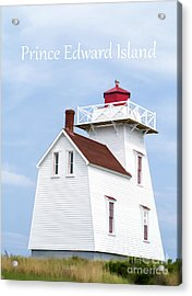 Prince Edward Island Lighthouse Poster Acrylic Print by Edward Fielding