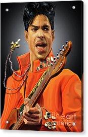 Prince  Acrylic Print by Reggie Duffie
