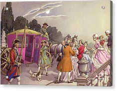 Princess Augusta, About To Give Birth, Was Bundled Into A Coach Acrylic Print by Pat Nicolle