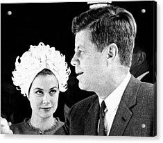 Princess Grace Of Monaco And President Acrylic Print by Everett