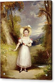 Princess Victoria Aged Nine Acrylic Print by Stephen Catterson the Elder Smith
