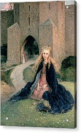 Princess With A Spindle Acrylic Print by Hanna Pauli