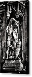Princeton University Saint George And Dragon Sculpture Acrylic Print by Olivier Le Queinec