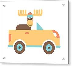Moose Road Trip Acrylic Print by Mitch Frey