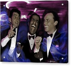 Prismatic Rat Pack Acrylic Print by Christine Mayfield