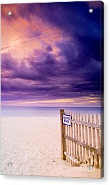 Private Beach Cape Cod Acrylic Print by Matt Suess