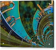 Processing Point 3 Acrylic Print by Wendy J St Christopher