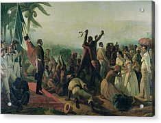Proclamation Of The Abolition Of Slavery In The French Colonies Acrylic Print by Francois Auguste Biard