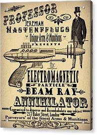 Professor H And His Ray Gun Acrylic Print by Cinema Photography