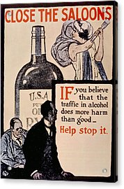 Prohibition Poster, 1918 Acrylic Print by Everett