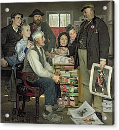 Propaganda Acrylic Print by Jean Eugene Buland