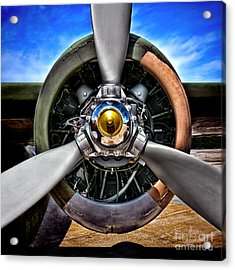 Propeller Art   Acrylic Print by Olivier Le Queinec