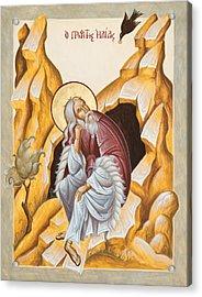 Prophet Elijah  Acrylic Print by Julia Bridget Hayes