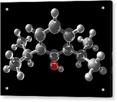 Propofol Molecule Acrylic Print by Laguna Design