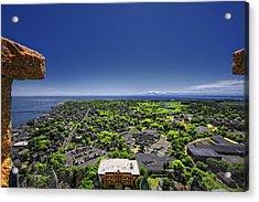 Provincetown Panoramic Aerial Acrylic Print by Dapixara Art