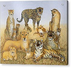 The Big Cats Acrylic Print by Pat Scott