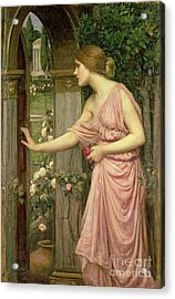 Psyche Entering Cupid's Garden Acrylic Print by John William Waterhouse