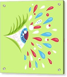 Psychedelic Eye Acrylic Print by Boriana Giormova