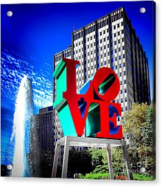 Psychedelic Love  Acrylic Print by Olivier Le Queinec