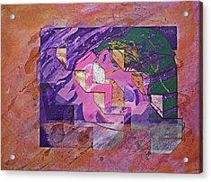 Psycho Pattern Acrylic Print by Charles Stuart