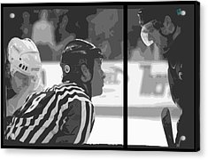 Puck Drop Acrylic Print by Lucas Armstrong