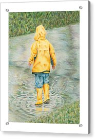 Puddle Fun Acrylic Print by Mary Jo Jung
