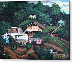 Puerto Rico Mountain View Acrylic Print by Luis F Rodriguez