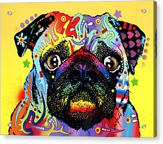 Pug Acrylic Print by Dean Russo
