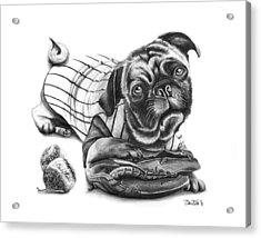 Pug Ruth  Acrylic Print by Peter Piatt