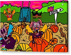 Pumpkin Patch Acrylic Print by Jera Sky