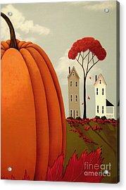 Pumpkin Valley Acrylic Print by Catherine Holman