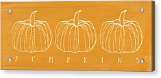 Pumpkins- Art By Linda Woods Acrylic Print by Linda Woods