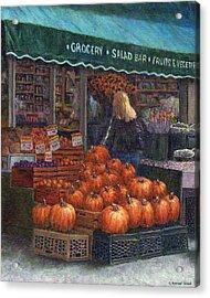 Pumpkins For Sale Acrylic Print by Susan Savad