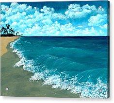 Punta Cana Beach Acrylic Print by Anastasiya Malakhova