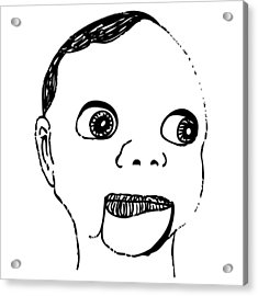 Puppet Head Acrylic Print by Karl Addison