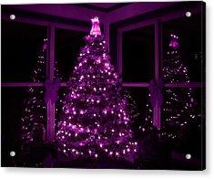 Purple Christmas Acrylic Print by Lori Deiter