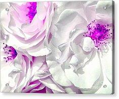 Purple Essence Acrylic Print by Krissy Katsimbras