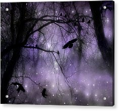 Purple Misted Woods Acrylic Print by Gothicolors Donna